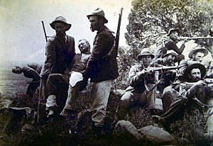 Boers at the Battle of Paardeberg on 27th February 1900 in the Great Boer War