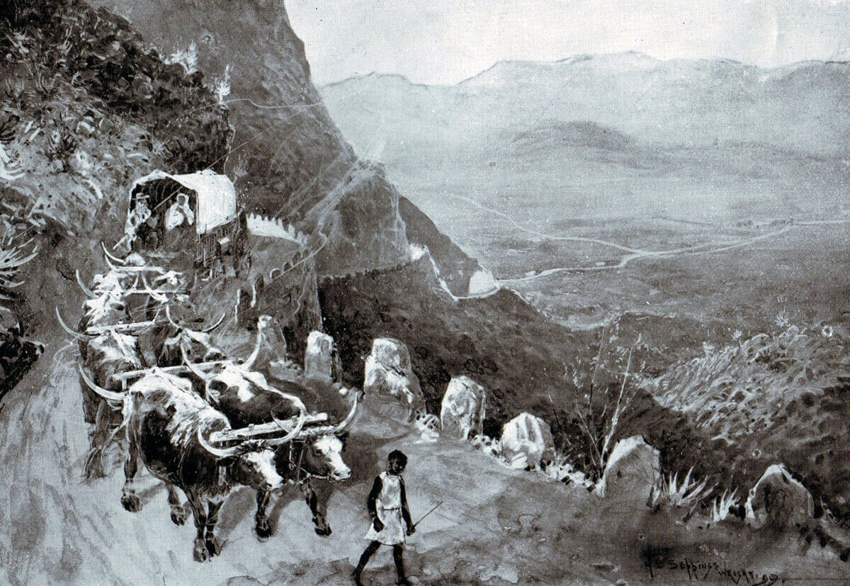 Stormberg Pass near to the scene of the Battle of Stormberg on 9th/10th December 1899 in the Boer War: picture by H.C. Seppings Wright
