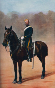 18th Hussar trooper in 1899: Battle of Talana Hill on 20th October 1899 in the Boer War