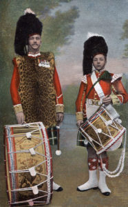 Drummers of the Seaforth Highlanders: the regiment's 2nd Battalion fought at the Battle of Magersfontein on 11th December 1899 in General Wauchope's Highland Brigade in the Boer War