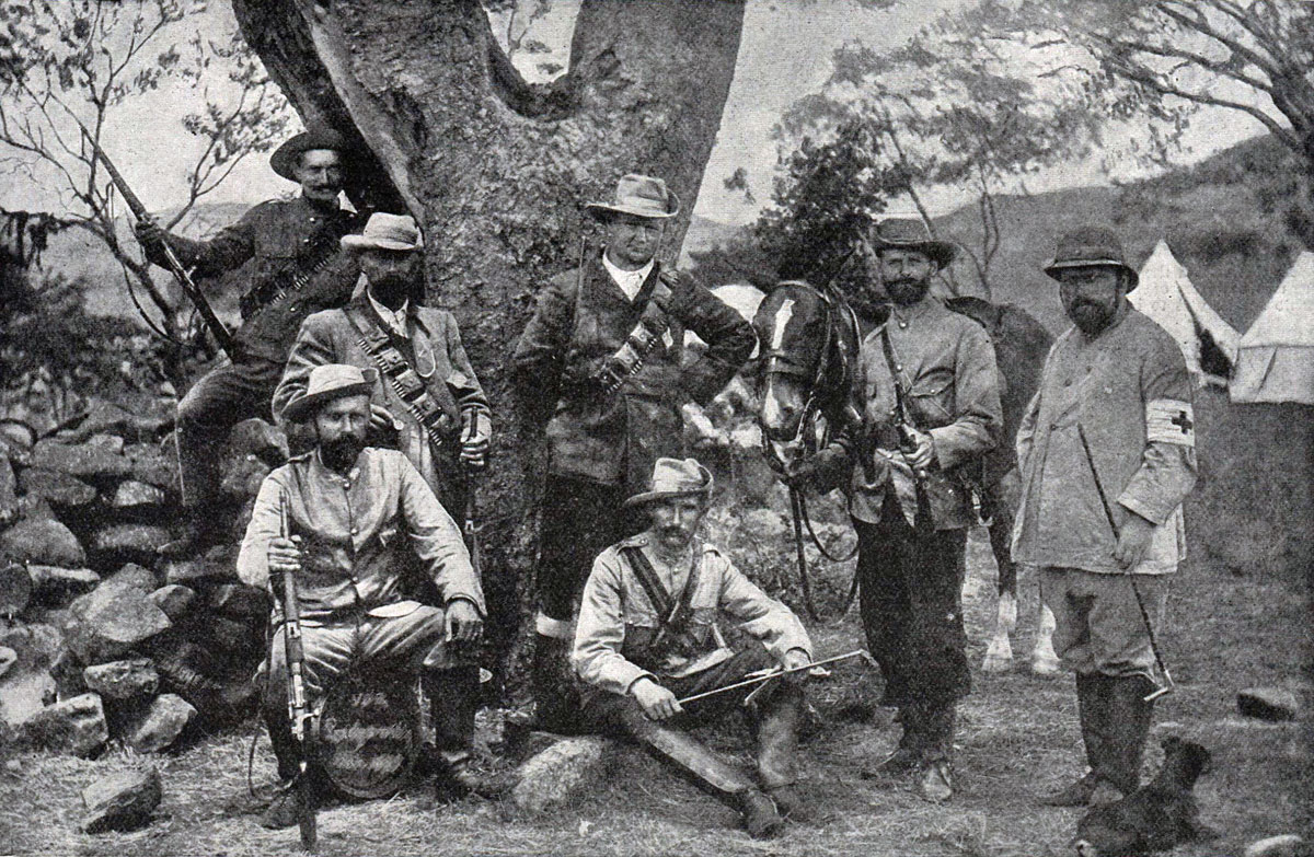 Officers of the German Corps fighting with the Boers at the Battle of Spion Kop on 24th January 1900 in the Boer War