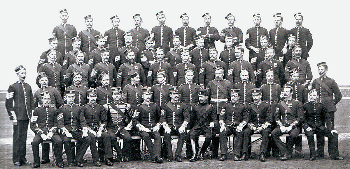 2nd Coldstream Guards non-commissioned officers. The Battalion fought at Belmont, Graspan, Modder River and Magersfontein in 1899: Battle of Modder River on 28th November 1899 in the Boer War