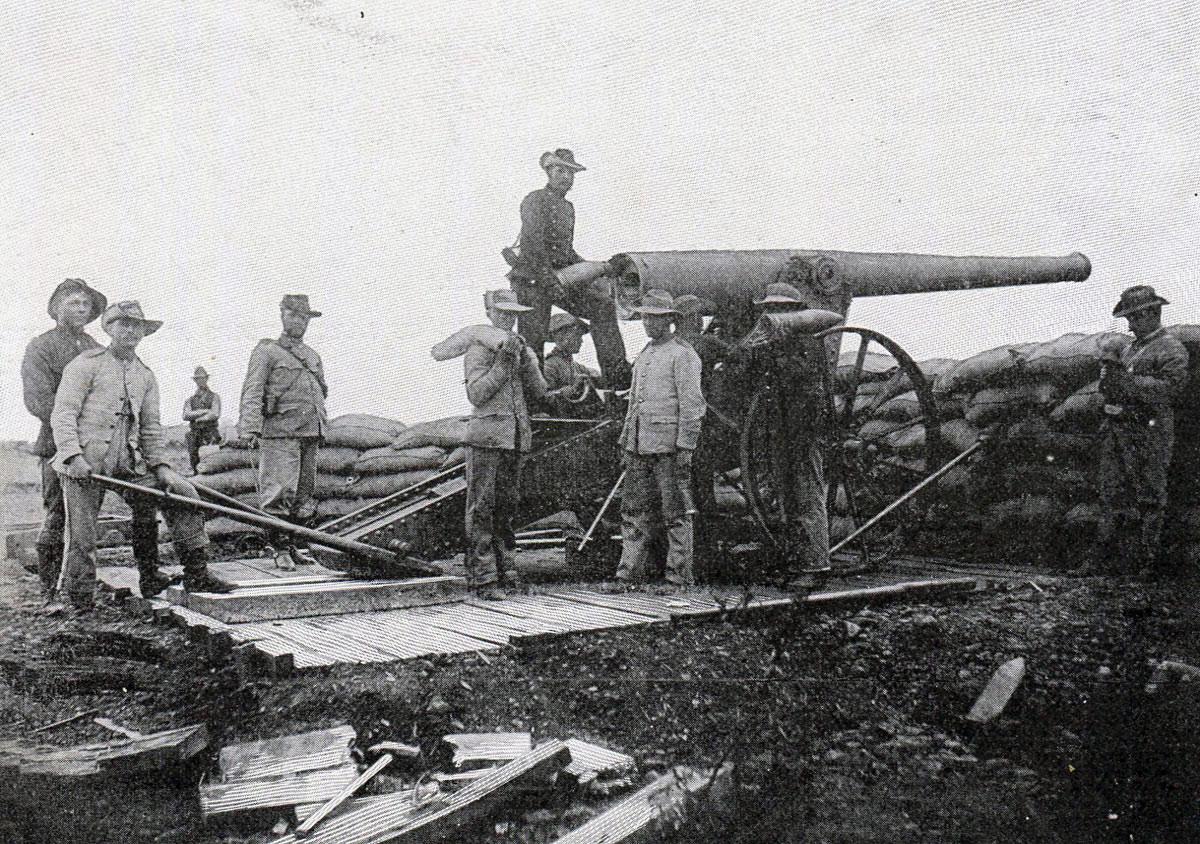 Boer 'Long Tom' gun: Battle of Val Krantz 5th February 1900 in the Great Boer War