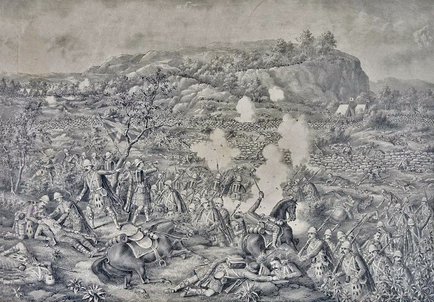 Contemporary print of the Battle of Magersfontein on 11th December 1899 in the Boer War