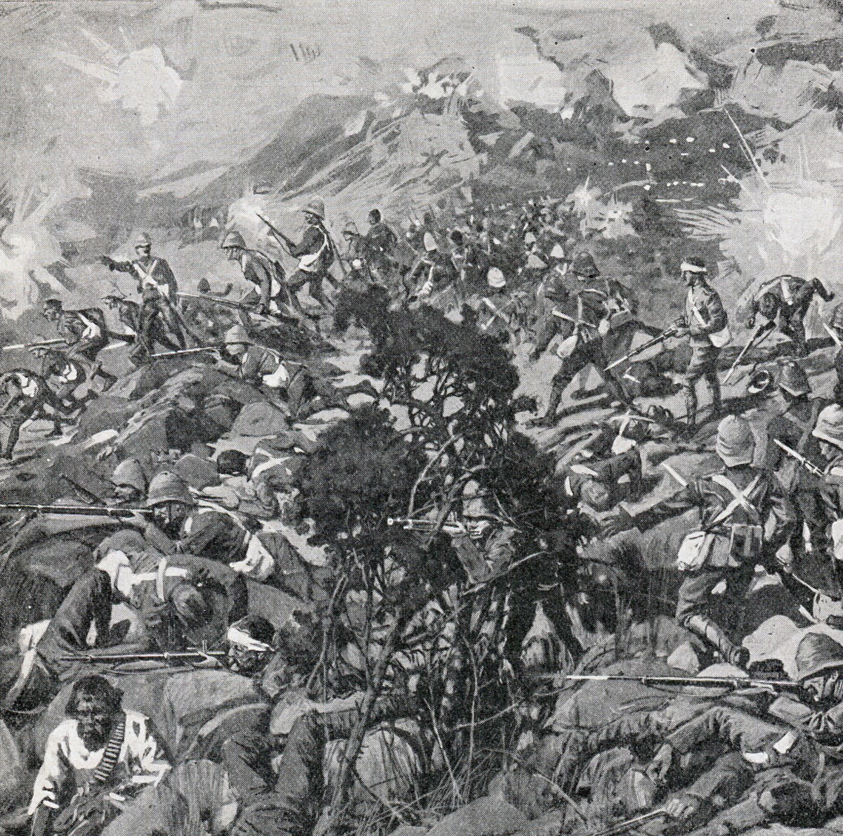 Boer attack on Wagon Hill: Siege of Ladysmith, 2nd November 1899 to 27th February 1900 in the Great Boer War