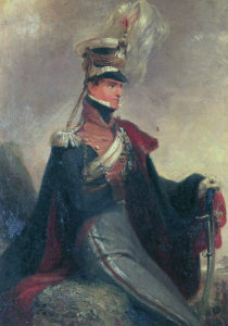 Lieutenant Colonel Bathurst Hervey, commanding 14th Light Dragoons at the Battle of Villagarcia on 11th April 1812 in the Peninsular War