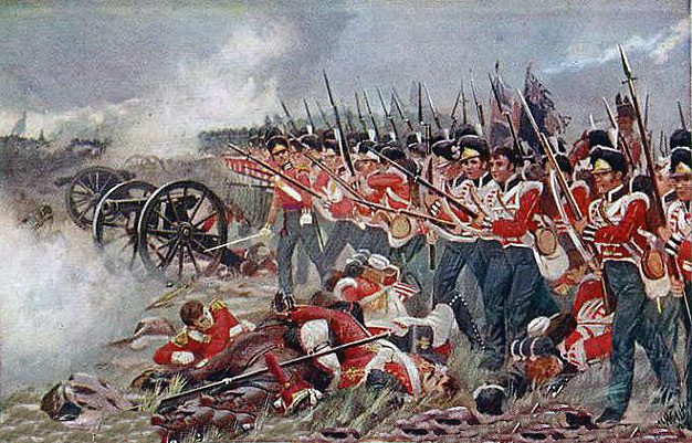 Royal Welch Fusiliers at the Battle of Albuera on 16th May 1811 in the Peninsular War
