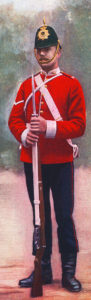 Durham Light Infantry in home service uniform: Battle of Pieters, fought from 14th to 28th February 1900 in the Great Boer War