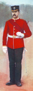 Sergeant of the East Surrey Regiment in home service uniform: Battle of Pieters, fought from 14th to 28th February 1900 in the Great Boer War