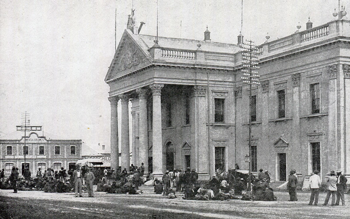 Kimberley Town Hall: Siege of Kimberley, 14th October 1899 to 15th February 1900 during the Great Boer War