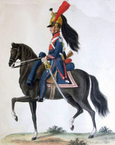French Dragoon: Battle of Salamanca on 22nd July 1812 during the Peninsular War, also known as the Battle of Los Arapiles or Les Arapiles