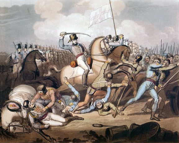 Death of General Gaspard le Marchant at the Battle of Salamanca on 22nd July 1812 during the Peninsular War