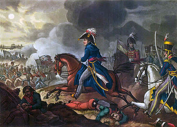 Wellington at the Battle of Salamanca on 22nd July 1812 during the Peninsular War: picture by William Heath