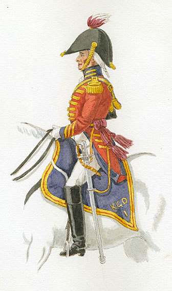 Officer of the King's German Legion 1st Dragoons: Battle of Garcia Hernandez on 23rd July 1812