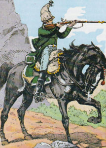 French Dragoon: Battle of Majadahonda on 11th August 1812 in the Peninsular War