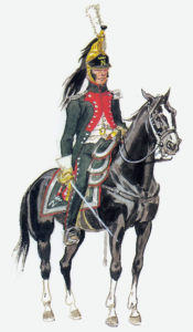 Italian Napoleone Dragoon of the French Army: Battle of Majadahonda on 11th August 1812 in the Peninsular War