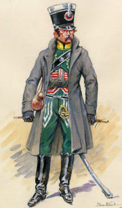 Officer of French Chasseurs à Cheval: Battle of Garcia Hernandez on 23rd July 1812 in the Peninsular War