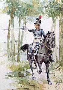 Portuguese Dragoon Officer: Battle of Majadahonda on 11th August 1812 in the Peninsular War