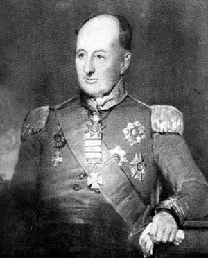 Colonel Benjamin D'Urban, commander of the Portuguese Dragoon Brigade at the Battle of Majadahonda on 11th August 1812 in the Peninsular War