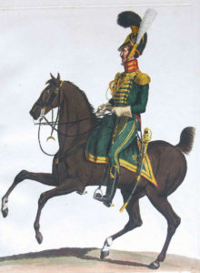 Westphalian Chevaux Legers of the French Army: Battle of Majadahonda on 11th August 1812 in the Peninsular War