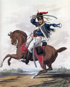 Soldier of the 10th Prince of Wales's Own Royal Hussars: Battle of Morales de Toro on 2nd June 1813: picture by Hamilton Smith