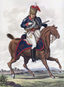 Soldier of the 15th King's Hussars: Battle of Morales de Toro on 2nd June 1813: picture by Hamilton Smith
