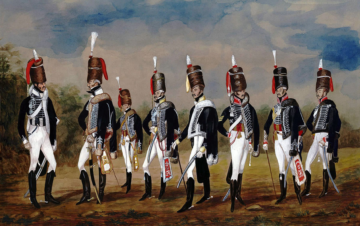 British 7th, 10th and 15th Hussars: Battle of Morales de Toro on 2nd June 1813
