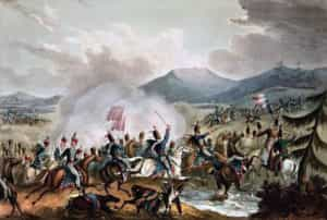 Battle of Morales de Toro on 2nd June 1813: picture by William Heath