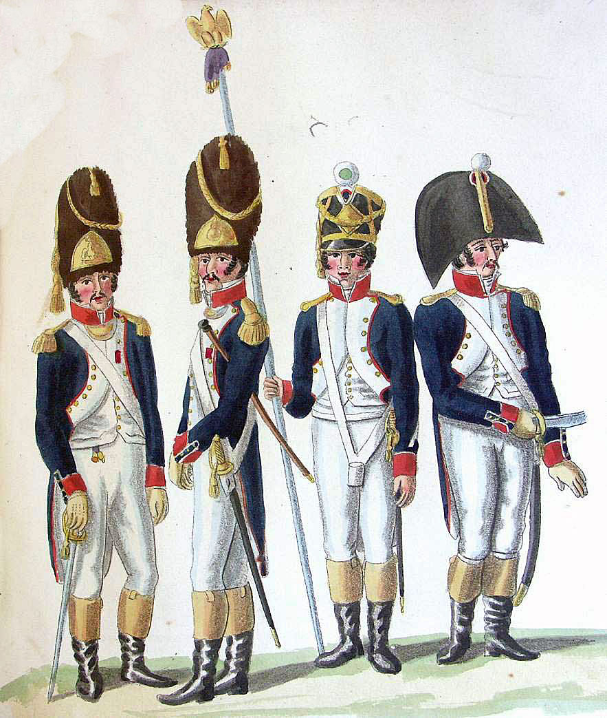 Officers of French infantry: Battle of San Millan and Osma on 18th June 1813 in the Peninsular War: picture by Suhl
