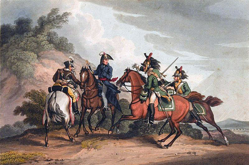 Capture of General Paget by French Dragoons on 17th November 1812 during the Retreat from Burgos in the Peninsular War