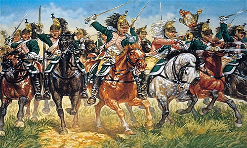 French Dragoons in the Charge: Battle of Morales de Toro on 2nd June 1813