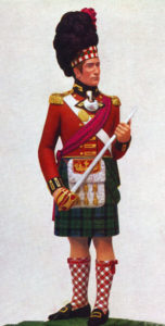 Officer, 42nd Highlanders: Attack on Burgos Castle between 19th September and 25th October 1812 in the Peninsular War: statuette by Pilkington Jackson