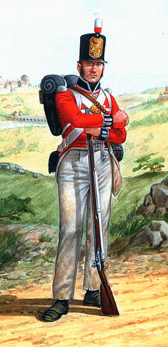 Private of the Coldstream Guards: Attack on Burgos Castle between 19th September and 25th October 1812 in the Peninsular War