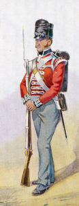 Soldier of the Royal Scots, 1st of Foot: Battle of Vitoria on 21st June 1813 during the Peninsular War