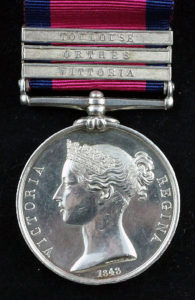 Military General Service Medal 1848 with clasp for the Battle of Vitoria on 21st June 1813 in the Peninsular War
