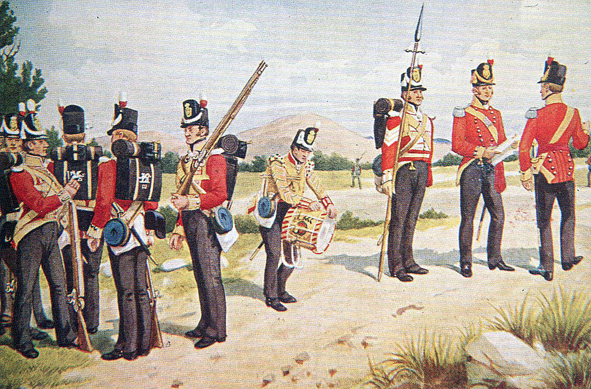 3rd Buffs: Battle of Vitoria on 21st June 1813 in the Peninsular War: picture by Richard Simkin