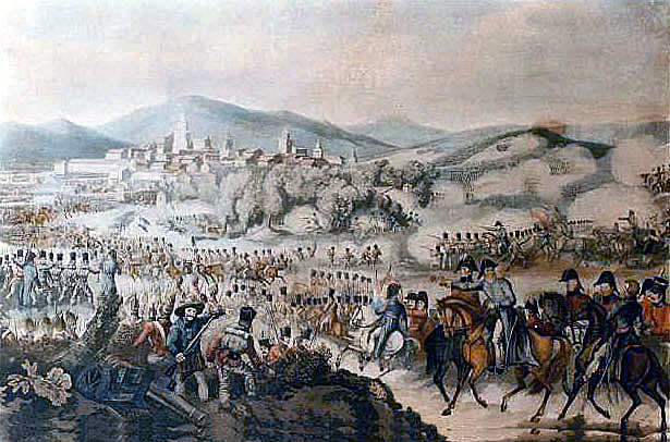 Wellington at the Battle of Vitoria on 21st June 1813 during the Peninsular War