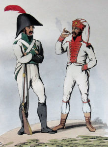Spanish Infantry: Battle of Vitoria on 21st June 1813 during the Peninsular War