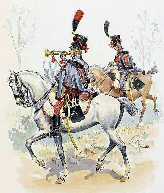 French 3rd Hussars: Battle of Venta del Pozo and Villodrigo on 23rd October 1812 in the Peninsular War