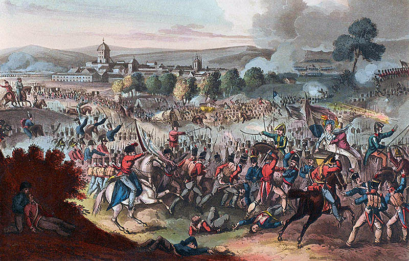 Capture of the French baggage at the Battle of Vitoria on 21st June 1813 during the Peninsular War