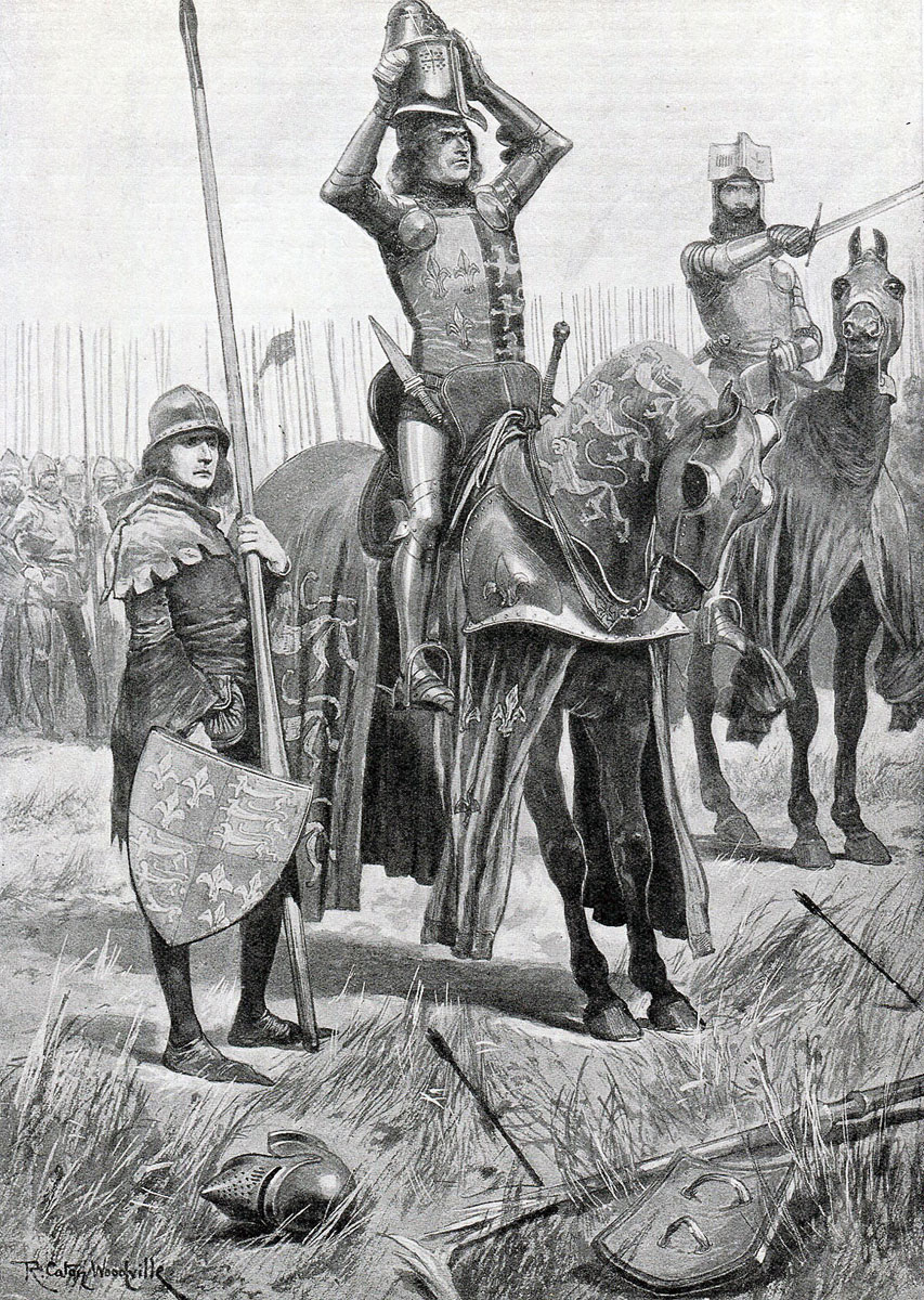 Sir John Chandos urges the Black Prince to attack saying 'Sire the Day is yours' at the Battle of Poitiers on 19th September 1356 in the Hundred Years: picture by Richard Caton Woodville
