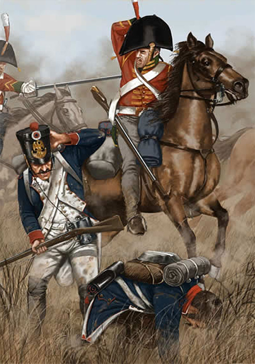 1st Dragoons King's German Legion at the Battle of of Garcia Hernandez on 23rd July 1812 in the Peninsular War