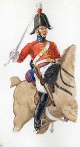 King's German Legion 1st Dragoons: Action at Villodrigo on 23rd October 1812 during the Retreat from Burgos in the Peninsular War