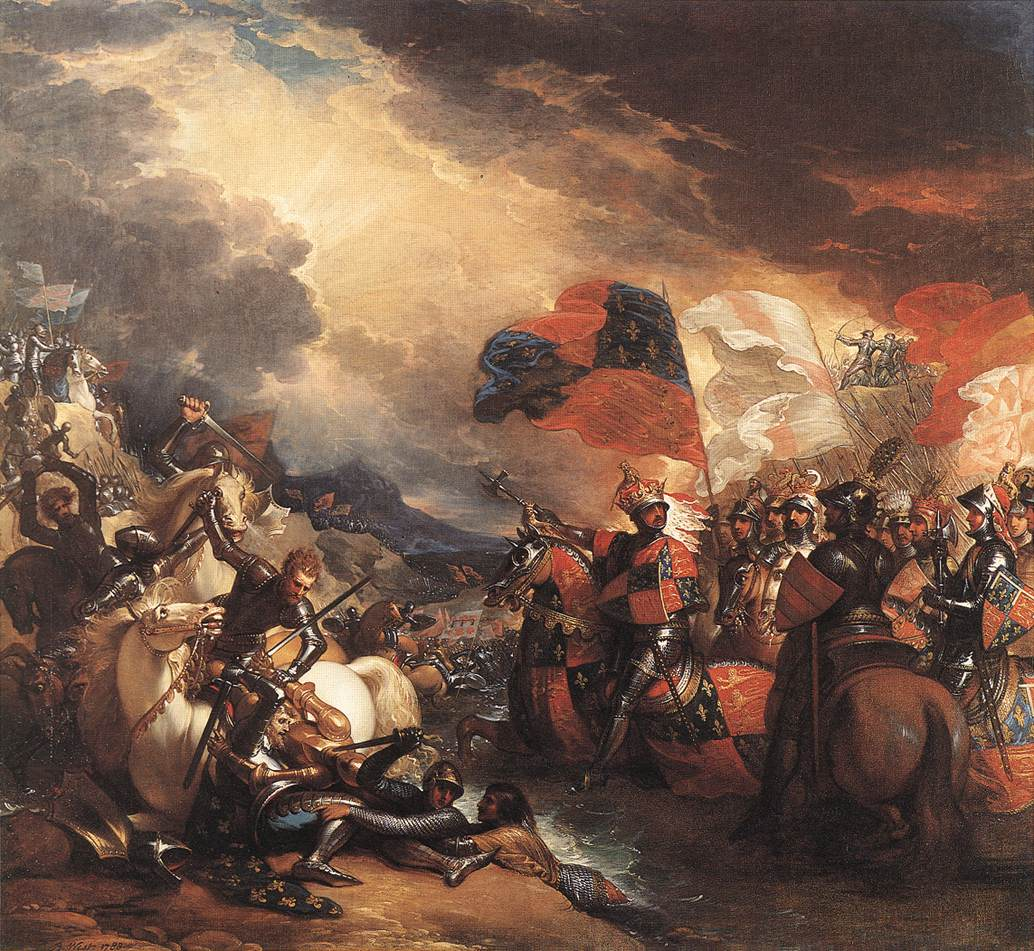 Edward III crossing the Somme before the Battle of Creçy on 26th August 1346 by Benjamin West