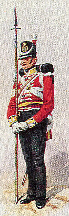 Sergeant of the 38th Regiment: Storming of San Sebastian between 11th July and 9th September 1813 in the Peninsular War: picture by Richard Simkin