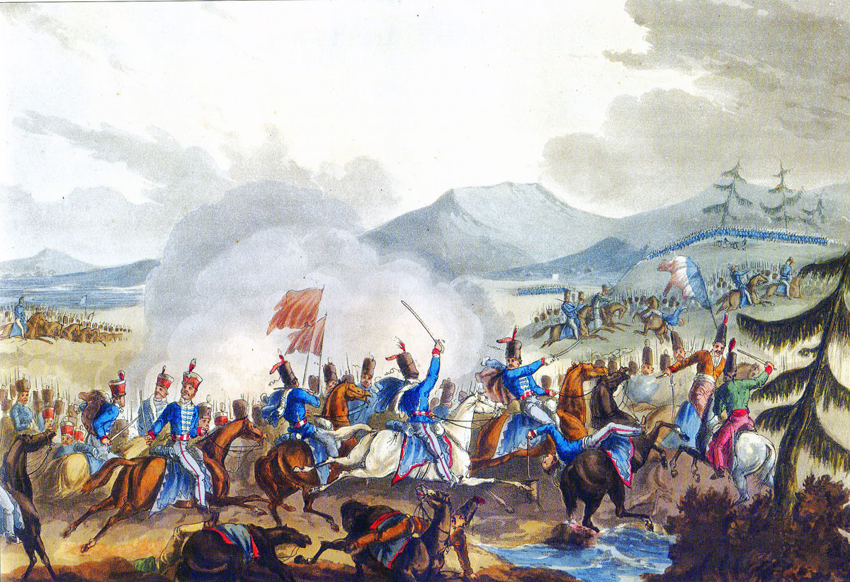 Battle of Morales de Toro on 2nd June 1813 during the Peninsular War: picture by J.J.Jenkins