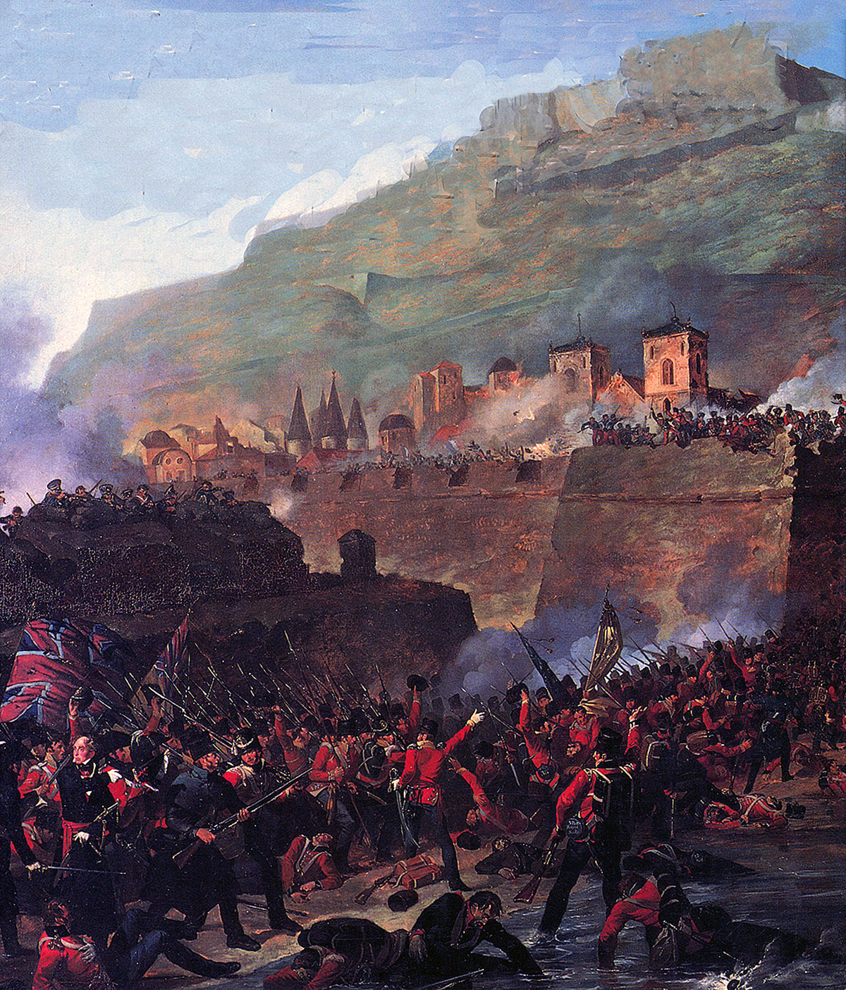 Storming of San Sebastian, between 11th July and 9th September 1813 in the Peninsular War: picture by Denis Dighton