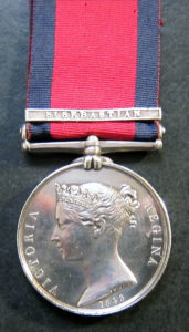 Military General Service Medal 1848 with clasp for San Sebastian: Storming of San Sebastian between 11th July and 9th September 1813 in the Peninsular War