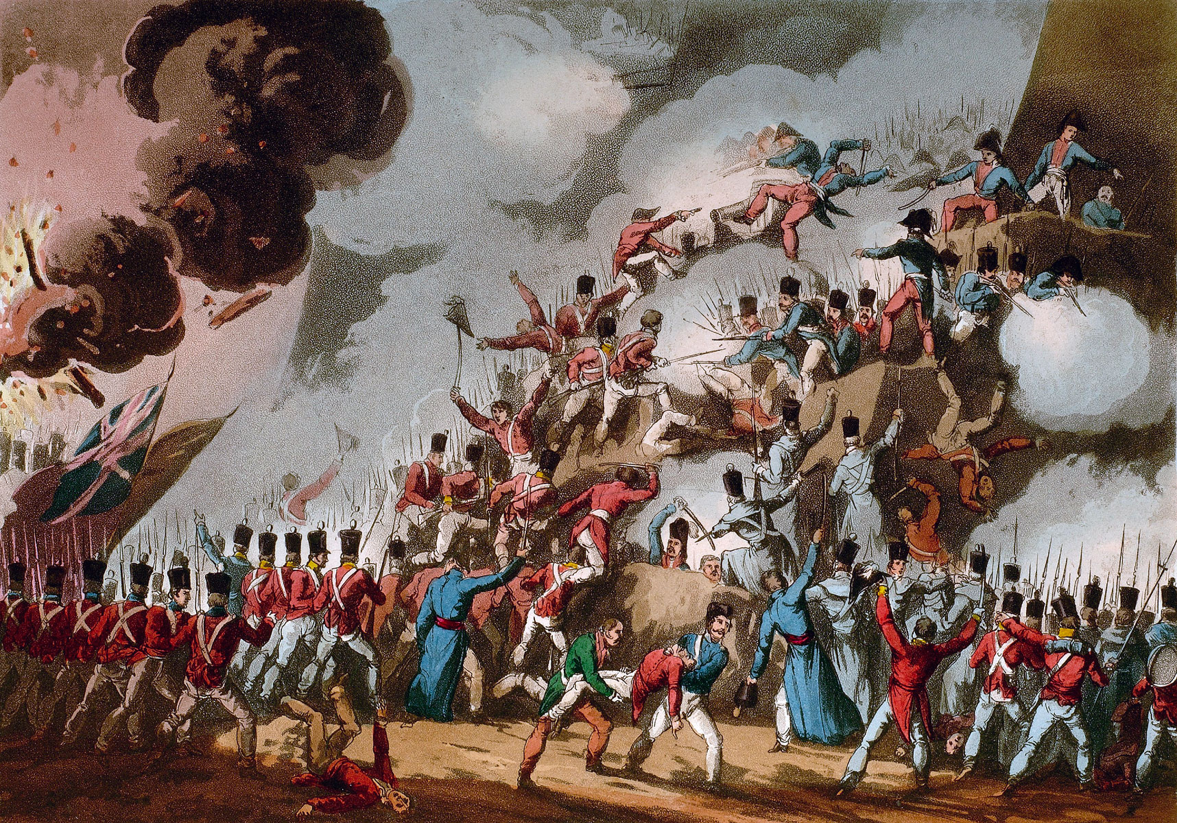 Second Attack on 31st August 1813 in the Storming of San Sebastian between 11th July and 9th September 1813 in the Peninsular War