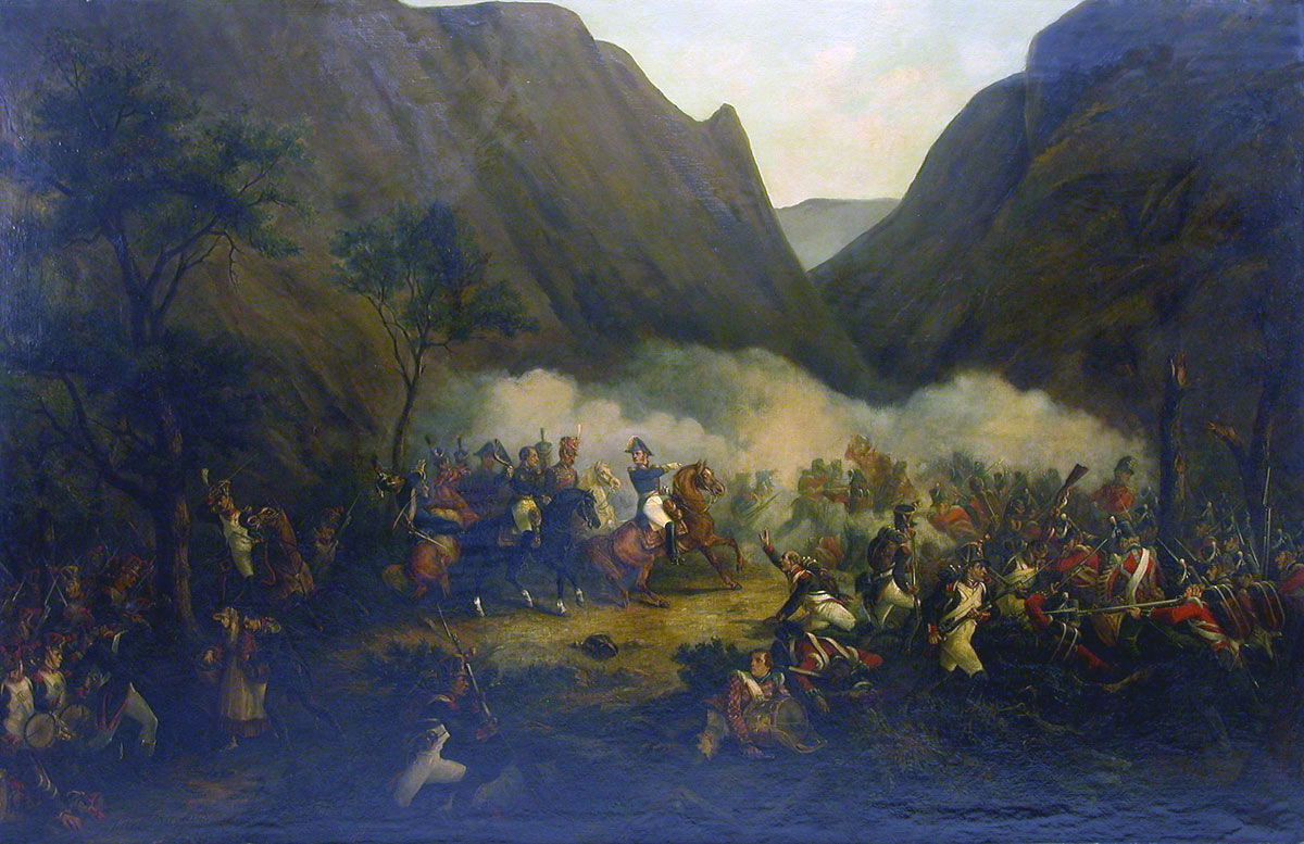 Battle of Maya on 25th July 1813: Battle of the Pyrenees fought between 25th July and 2nd August 1813 in the western Pyrenees Mountains, during the Peninsular War
